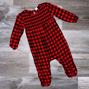 Old Navy Toddler Red/Black Plaid Jumpsuit 18-24 M